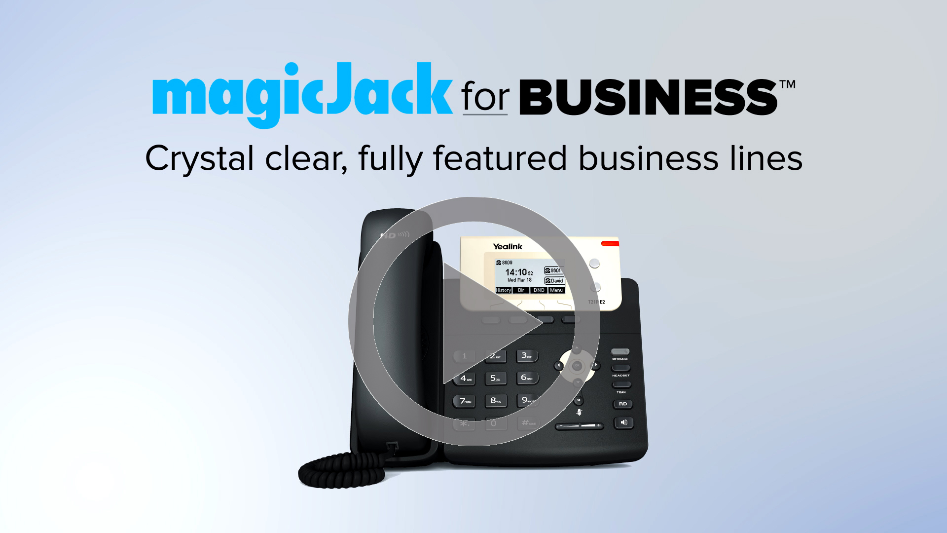 Intro video thumbnail | magicJack for Business
