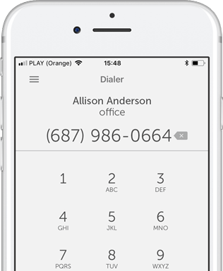 Make calls on the go with our mobile app.